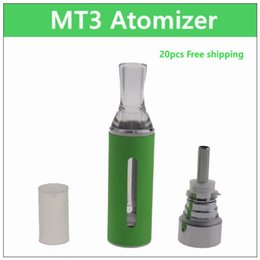 Wholesale Ego Ecig Atomizer - MT3 ecig atomizer - 20PCs. 2.4ml coil replaceable electronic cigarette atomizer rebuildable coil clearomizer tank for ego battery mt3 kit