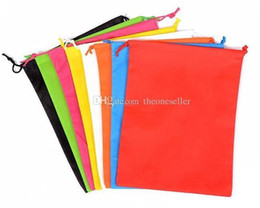 Wholesale Food Colouring Colours - 40cm Hx30cm non woven sack with rope storage bag multiple colours for shoe   clothes dust proof