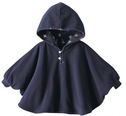 Wholesale Corduroy Cape - 2016 Fleece Combi Baby Coat Babe Cloak Two-sided Outwear Floral Baby Poncho Cape Infant Baby Coat Christmas Costume Gift