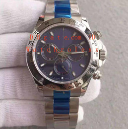 Wholesale Chronograph Swiss Watches - Mens Limited Editio Super JH Factory Chronograph Automatic Cal 4130 Watch Blue Dial 116509 Watches Men Steel Sport Swiss 40mm Wristwatches