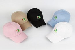 Wholesale Adult Frog Hat - Kermit Tea Hat The Frog Sipping Drinking Tea Baseball Dad Visor Cap Emoji New Popular 6 Panel polos caps hats for men and women