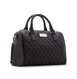 Wholesale Rivet Bag Beige - New women leather handbags for woman fashion designer black bucket vintage Shoulder bags women messenger bag