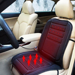 Wholesale Winter Car Seat Covers Cushions - Winter Car Covers Pad Car Seat Cushion Electric Heated Cushion Car Heated Seat Covers Universal Conjoined Supplies Black Color order<$18no t