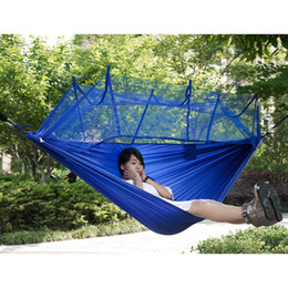 Wholesale Portable Mosquito - Hot Selling Portable Hammock Single-person Folded Into The Pouch Mosquito Net Hammock Hanging Bed For Travel Kits Camping Hiking