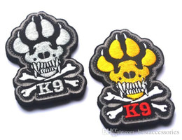 Wholesale K Tape - 2.75*1.9 inch 3D Embroidered patch with magic tape Noctilucent K-9 Tactical Isaf Attack Dogs Of War OEF OIF Badge Military GPS-016