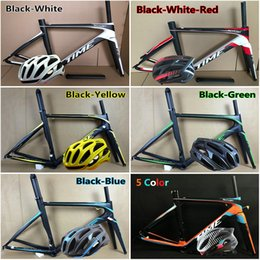 Wholesale Carbon Road Frames Time - Packaged for sale 4D Cycling Helmet+Time Skylon carbon Frame T1000 3k UD 6 Models Time Skylon carbon road bike frame free shipping