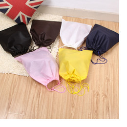 Wholesale Wholesale Silk Shoe Bag Pouches - 2016 Thick Non-Woven Shoe Bag Travel Pouch Storage Portable Tote Drawstring Storage Bag Organizer Covers WA0691