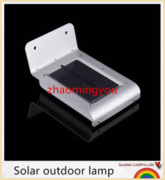 Wholesale Outside Home Lighting - YON 16 LED Outdoor Solar Lights Motion Sensor Detector Exterior Security Lighting For Patio Yard Garden Home Driveway Stairs Outside Wall