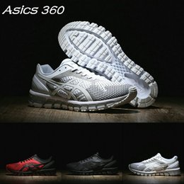 Wholesale Women Spring Summer - 2017 Wholesale Asics Gel-Quantum 360 Knit T728N-9099-2690 Cushioning Running Shoes Weaves Vamp Original Men Women Sneakers Basketball Shoes