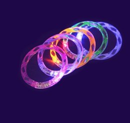 Wholesale Free Style Concert - Free Shipping New Thread Style Flash Light LED Bracelet Acrylic Bangles Fluorescent Bracelets For Party Bar Concert 100pcs lot
