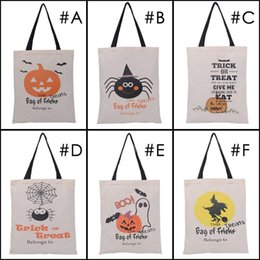Wholesale Devil Wholesale - 2017 Hot Sale Halloween candy bags Large Canvas Hand Bags Trick or treat Pumpkin Devil Spider Halloween Gift Bags In stock