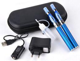 Wholesale Ego Ce4 Double Starter Kits - eGo-T Dual Vaporizer CE4 Atomizer Vape Pen Double Starter Kit 1100mAh Battery Case CE4 Vape Pen Free Shipping