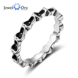 Wholesale Silver Rings For Feet - JewelOra Romantic Solid 925 Sterling Silver Feet Shape Ring Love Ring For Lovers & Mom & Daughters Free Shipping #RI102819