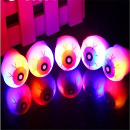Wholesale Eyeball Rings - New arrival Halloween eye ball realistic led eyeballs ring with colors flash for Halloween Christmas gifts