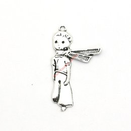 Wholesale Prince Jewelry - 8pcs Antique Silver Plated Le Petit Prince Charms Pendants for Jewelry Making DIY Necklace Bracelet Craft 45x26mm
