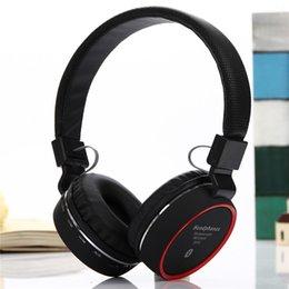 Wholesale Galaxy Sh - SH-10 Bluetooth Headset Wireless Handfree MIC TF Slot FM Headphone For Apple Samsung Galaxy Phones DHL