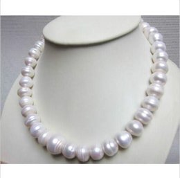 """Wholesale 14kt Yellow Gold Necklace - STUNNING 15MM NATURAL SOUTH SEA WHITE BAROQUE PEARL NECKLACE 18"""" 14KT GOLD CLASP"""