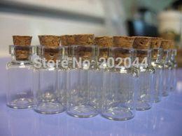 Wholesale Mini Bottles Corks Wholesale - 100 unis 0.5ml 11x18mm Hot Fashion Small Glass jars Cute Mini Wishing Cork Stopper Glass Bottles Vials Jars Containers Size Free