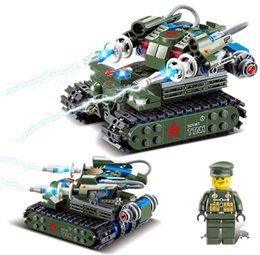 Wholesale Military Toys Tanks - Delo toys Plastic building blocks self-assembly toys for children military tank play set kids birthday gift without package box