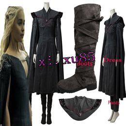 Wholesale Halloween Costumes Dragon - Game of Thrones Season 7 Cosplay Costume Daenerys Targaryen Mother of Dragons Outfit Halloween Custom Made Free Shipping