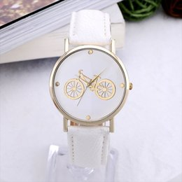 Wholesale Cheap Branded Watches Geneva - Newest Hot Brand GENEVA watch Fashion womens clock wrist watch Bicycle cheap watches Women Alloy Gold Dial student Quartz watch