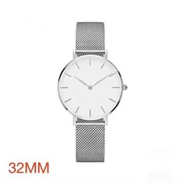 Wholesale Gold Mesh Buckle Bracelet - 2017 New Luxury Brand Quartz Watches stainless steel Women's Wastches silver Straps Mesh Bracelet Fashion Daniel watch clock montre Femme