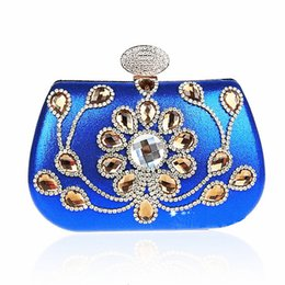 Wholesale Vintage Beaded Evening Bags - Wholesale-Vintage Women Luxury Party Bags Diamond Evening Clutch Bag Shoulder Chain Bags Crystal Beaded Clutch Purses Pouch Bag JXY237