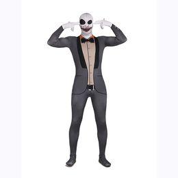 Argentina Skeleton Gentleman Zentai Suit Vampire Spandex Grey Monster Traje de disfraces de Halloween Disfraz cheap grey zentai Suministro