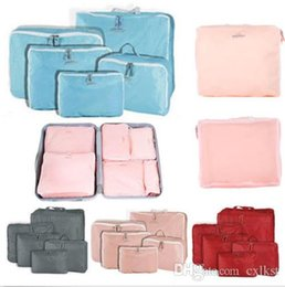 Wholesale Travel Pc Luggage - 5 Pc Travel Storage Tidy Organizer Luggage Suitcase Pouch Zip Bag Cases Brand New High Quality Hot