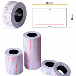 Wholesale Wholesale Cash Registers - New 10 Rolls Useful Paper Tag Price Label Sticker Single Row Denominated paper Business Adhesive Stickers Papelaria Material Escolar