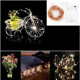 Wholesale Outdoor Lighted Christmas Decor - 2M 3M 4M LED Christmas String Light Battery LED string party lights Christmas Wedding Party Garden Decor Outdoor Fairy #06