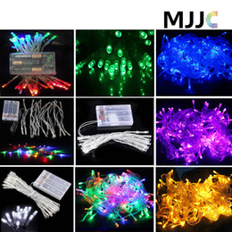 Wholesale Led Battery Curtain Fairy Lights - 5pcs 4M Waterproof 40 LEDS Fairy string lights Battery Operated Multicolor Xmas Party