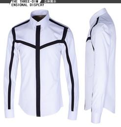 Freies Verschiffen 2016 Neue Ankunft Mode Patchwork Gedruckt Stil Europäischen und Amerikanischen Design Dünne langärmelige Hemd Mens Casual Shirt Hot von Fabrikanten