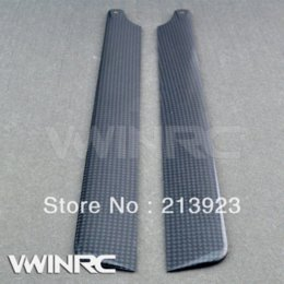 Wholesale Blade Heli - 325mm Carbon Fiber Main Blade For ALIGN T-REX 450 Sport PRO V2 Rc Helicopter Radio Remote control gyro heli toys 2.4G
