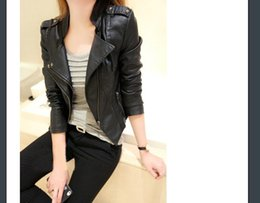 Wholesale Slimming Batch - Short leather jacket jacket spring and autumn new Korean version of the thin wild leather jacket tide motorcycle PU mixed batch sales