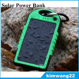 Wholesale Universal Battery Chargers For Cameras - Universal 5000mAh Solar Charger Waterproof Solar Panel Battery Chargers for Smart Phone PAD Tablets Camera Mobile Power Bank Dual USB
