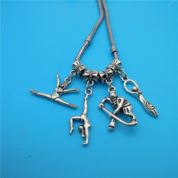 Wholesale Baseball European Beads - Mixed Tibetan Silver Athlete Gymnastics baseball player Charms Pendants Jewelry Making Bracelet Necklace Fashion Popular Jewelry Accessories