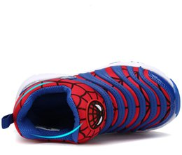 Wholesale Trendy Slip Shoes - spider man Trendy cartoon Boots spring sole boy trainer girl tenis Children Cotton Slip Shoes child sneaker cartoon shoes