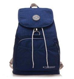 Wholesale Leopard String Blue - Brand Nylon Backpack Waterproof Women Knapsack Drawstring String Backpack Girl Student School Bag For Laptop Mochilas