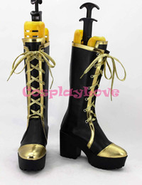 Wholesale Maids Shoes - Wholesale-Newest Custom Made Japanese Anime Lovelive! September Lolita Maid High Heel Sonoda Cosplay Shoes Boots For Halloween Christmas