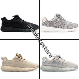 Wholesale Media Photos - 2016 New Kanye West Boost 350 Moonrock Pirate Black Oxford Tan Turtle Dove Women Men Shoes Sports Fashion Casual Sneaker 100% Real Photos