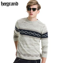 Wholesale Korea Man Sweater - Wholesale-2016 New Arrival Men Sweater Brand Clothing Man Knitted Pullovers High Quality Fashion Men Tops Korea Style MZM426