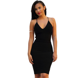 Wholesale Hot Bandage Wholesale - Hot 2016 sexy Evening Dress hip tight bandage skirt European and American fashion bare shoulder Vneck Evening dress