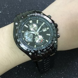 Uhr stahl japan movt online-MÄNNER Stilvolle Curren Date Japan Movt Steel Armbanduhr neue Tauchuhr Edelstahl Sport Stil Militär Herrenuhren