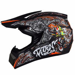 Wholesale Motorcycle Open Face Dot Helmet - DOT Approved Motorcycle Motocross Dirt Bike ATV Helmet Off-Road Racing Helmets Head Gears M L XL Moto Casque Capacete Casco
