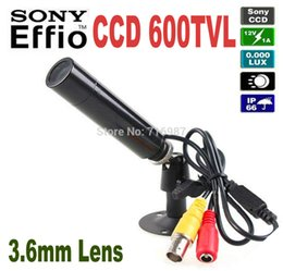 Wholesale Security Camera Small - Best Price Genuine Sony CCD 600TVL Waterproof Micro Video Surveillance Small Bullet Mini Security CCTV Camera MINI Bullet CAMERA