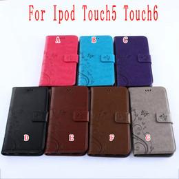 Flip Portafoglio Portafoglio in pelle PU Porta carte ID TPU Portafoglio Porta farfalle Folio per Apple Ipod Touch 5 6 Touch6 Cover5 Cover pelle lusso da