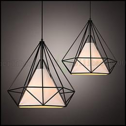Wholesale Wrought Iron Modern Lights - E27 Line 1M 38*38CM Loft Industrial Wind Restoring Ancient Ways Wrought Iron Lamps Lanterns Birdcage Chandelier LED LLWA132