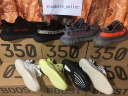 Wholesale Material Lace - Raw Factory Materials Boost 350 V2 Running Shoes Cream White CP9366 Semi Frozen Yellow B37572 Zebra CP9654 Kanye West Boost V2 With Box