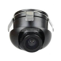 Wholesale Car Back Ccd Camera - Mini Car Camera Wide Angle 360 CCD Car Vehicle Rear View Side   Front Camera Back Up Free Shipping